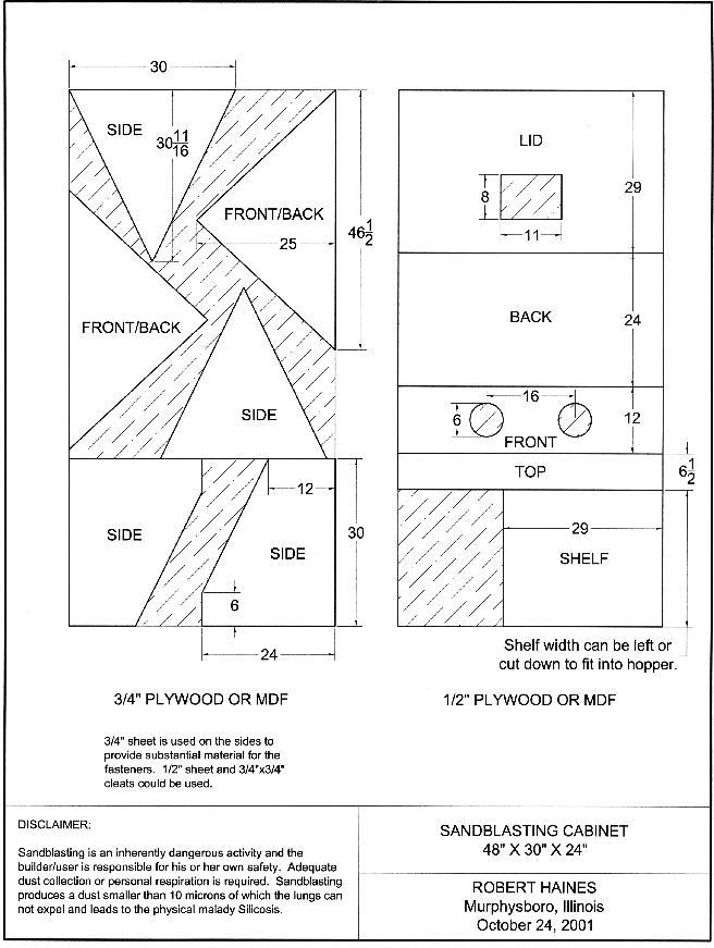 sandblast cabinet plans